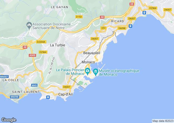 Map for Beausoleil, Alpes-Maritimes, Provence-Alps-Cote d`Azur