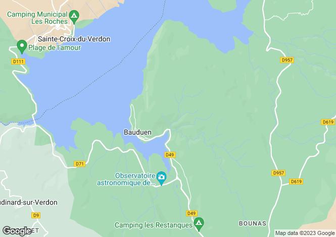 Map for bauduen, Var, France