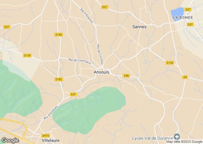 Map for Provence-Alps-Cote d`Azur, Vaucluse, Ansouis