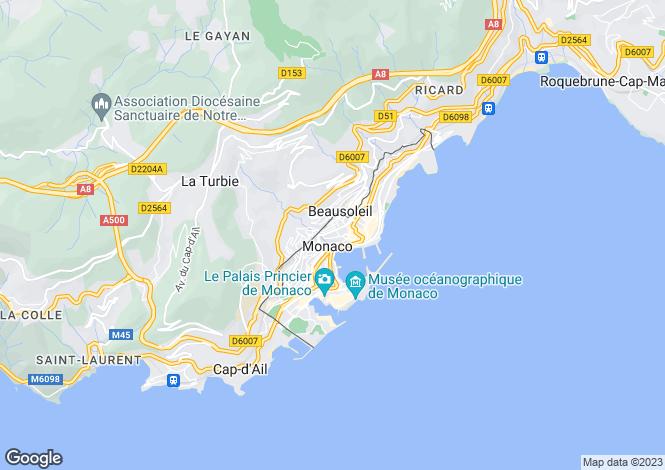 Map for Golden Square, Monaco