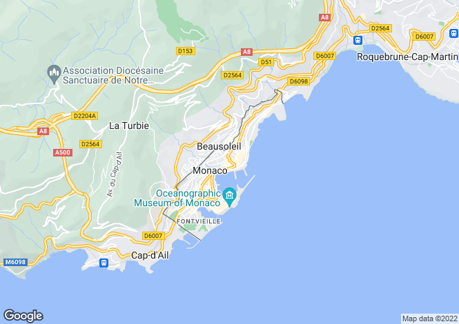 Map for Carré D'Or, Monaco