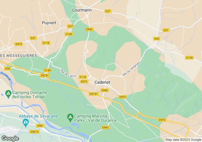 Map for CADENET, Provence-Alpes-Côte d'Azur