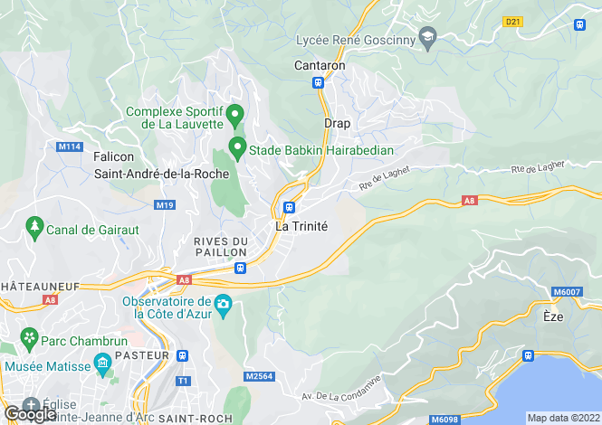 Map for Nice, Alpes-Maritimes, 06340, France
