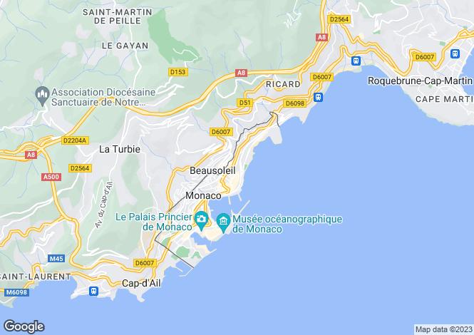 Map for Studio Apartment Nr Carre D'Or, Monaco