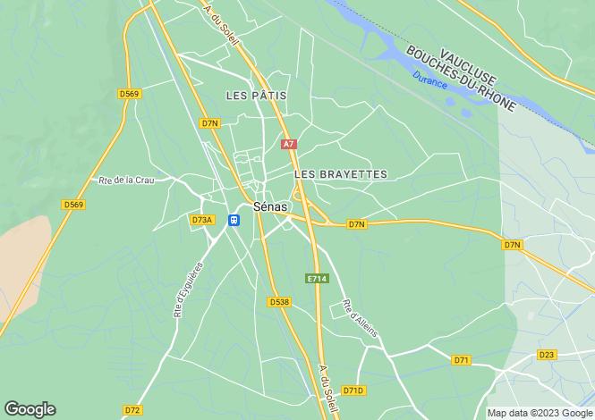 Map for senas, Bouches-du-Rhône, France