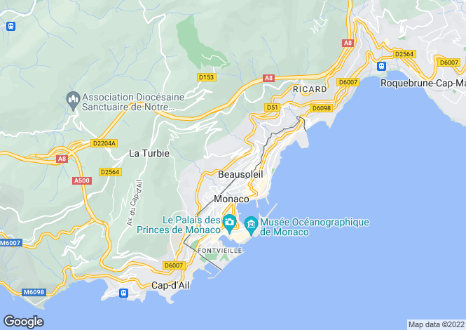 Map for Coastal Development, Nr Monaco, Beausoleil