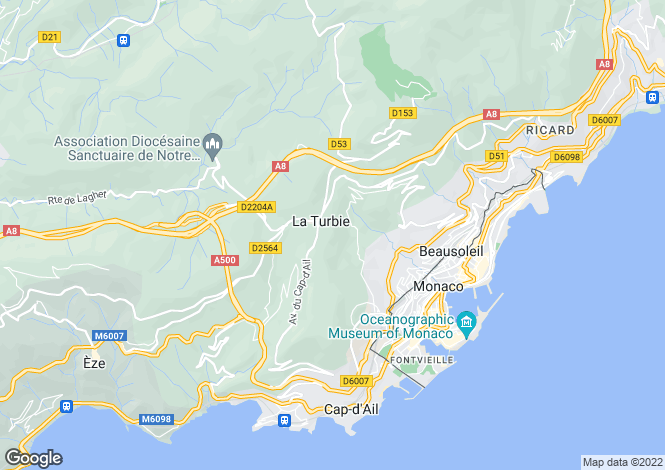 Map for Avenue de La Pinède, La Turbie, French Riviera