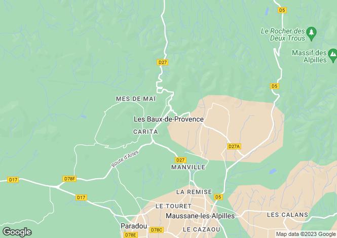 Map for Provence-Alps-Cote d`Azur, Bouches-du-Rhône, Les Baux-de-Provence