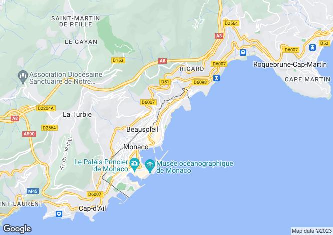 Map for Larvotto, Monaco