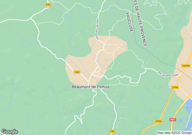 Map for beaumont-de-pertuis, Vaucluse, France