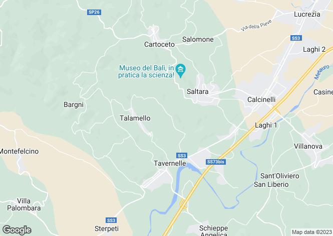 Map for Serrungarina, Pesaro e Urbino, Le Marche