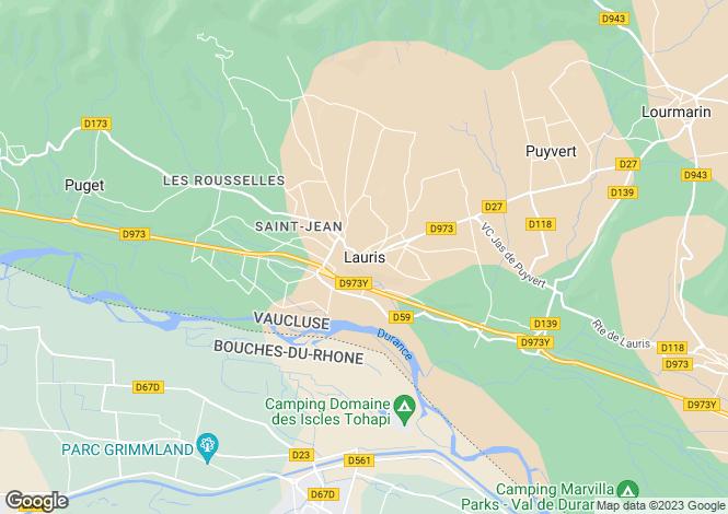 Map for Provence-Alps-Cote d`Azur, Vaucluse, Lauris
