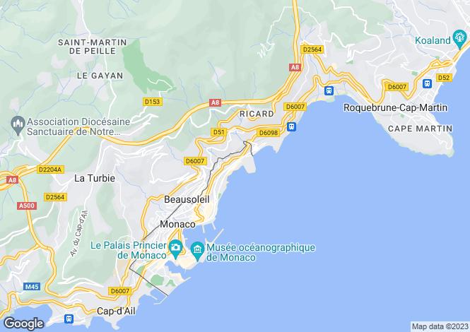Map for Monaco