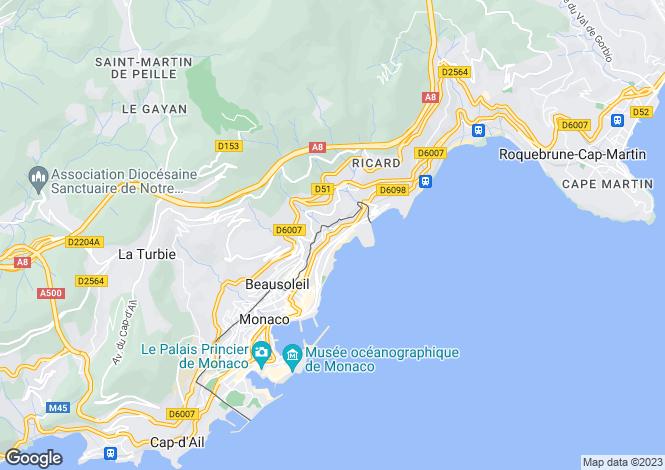 Map for Penthouse, Boulevard D'Italie, Monaco