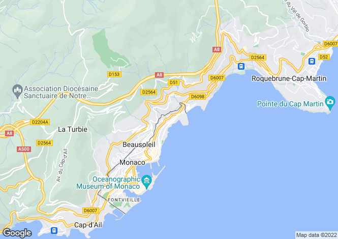 Map for Apartment With Sea Views, Monaco