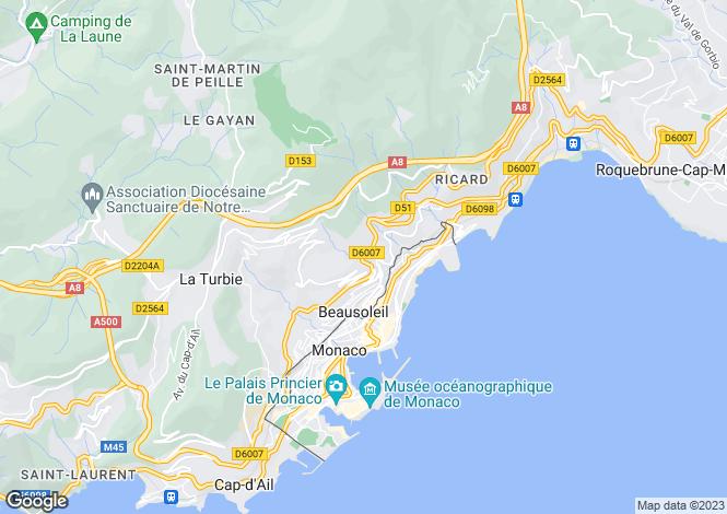 Map for Beausoleil, Monaco, Cote d`Azur