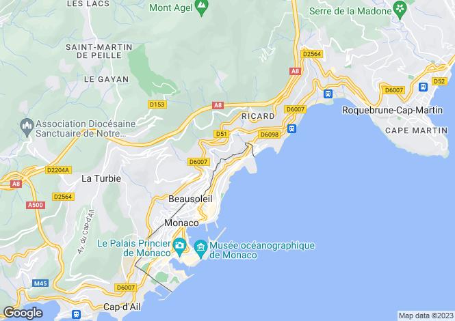 Map for Contemporary Apartment, Monaco