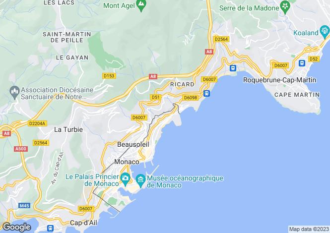 Map for Villa Loretta, Boulevard d'Italie, Monaco