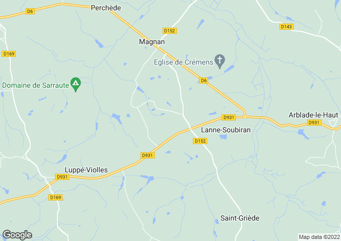 Map for magnan, Gers, France