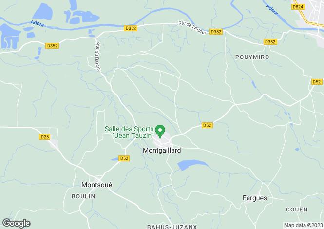 Map for montgaillard, Landes, France
