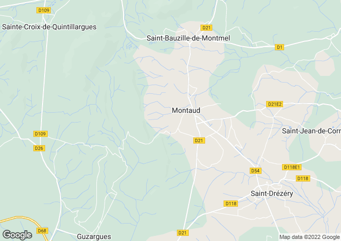 Map for MONTAUD, Montpellier Area, Languedoc,