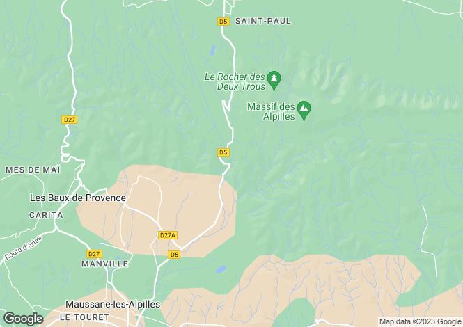 Map for Maussane Les Alpilles, Alpilles, South Of France