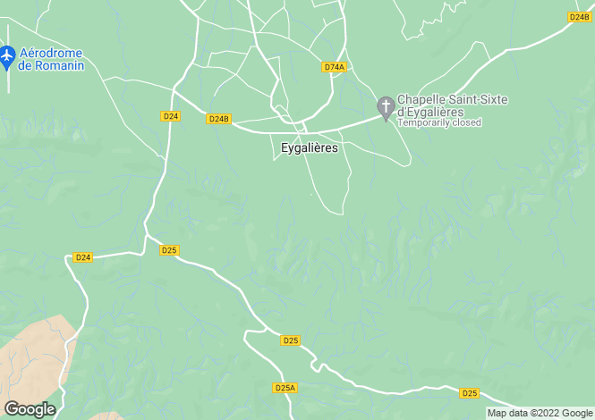 Map for eygalieres, Bouches-du-Rhône, France