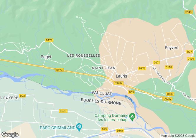 Map for Puget, 84360, France