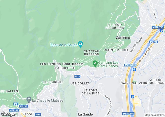 Map for st-jeannet, Alpes-Maritimes, France