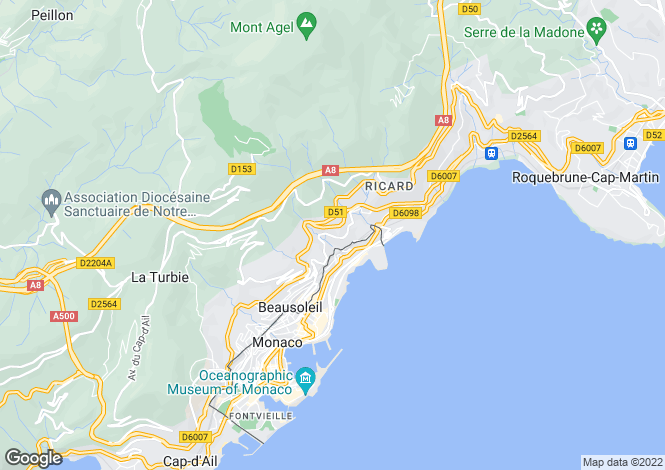 Map for Monte Coast View, Emotion, Beausoleil