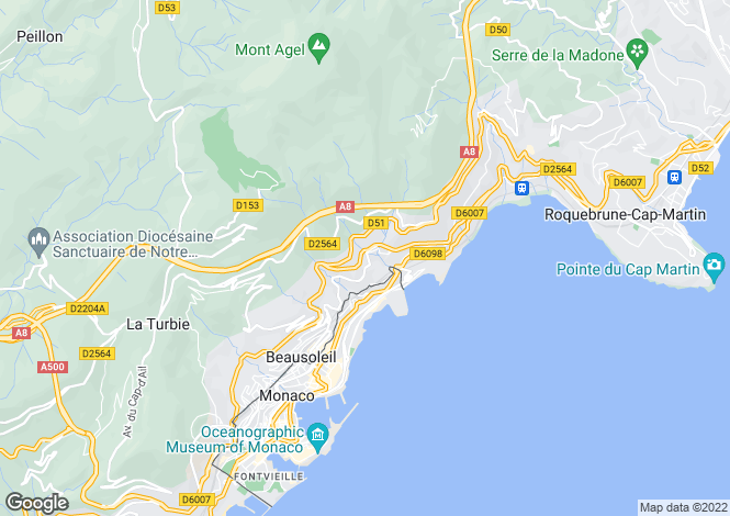 Map for Beausoleil, Alpes-Maritimes, France