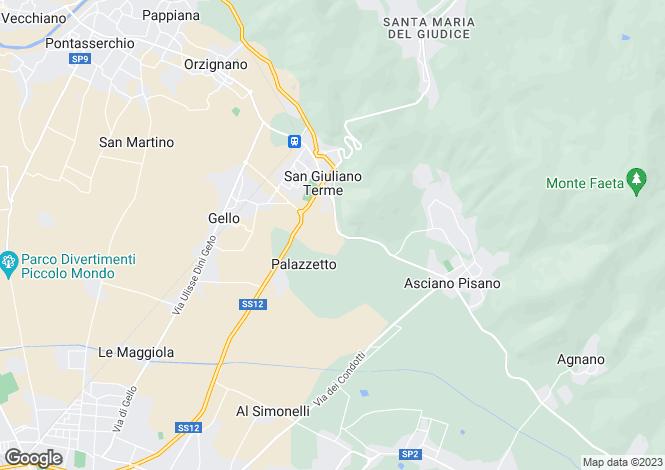 Map for Tuscany, Pisa, San Giuliano Terme