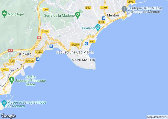 Map for Provence-Alps-Cote d`Azur, Alpes-Maritimes, Roquebrune-Cap-Martin