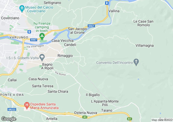 Map for Tuscany, Florence, Bagno a Ripoli