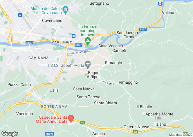 Map for Bagno a Ripoli, Firenze, Italy