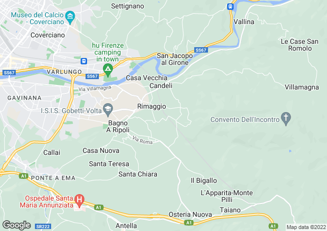 Map for Bagno a Ripoli, Florence, Tuscany