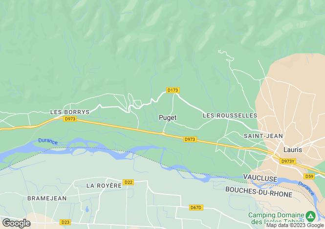 Map for Provence-Alps-Cote d`Azur, Vaucluse, Puget
