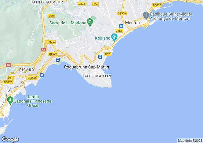 Map for Provence-Alpes-Cote d'Azur, Alpes-Maritimes, Roquebrune-Cap-Martin