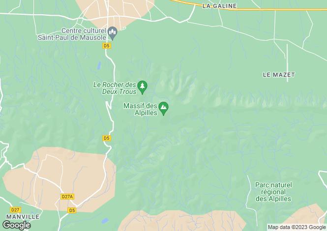 Map for Saint-Remy de Provence, Alpilles, South Of France