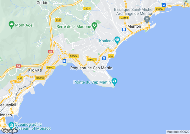 Map for Roquebrune Cap Martin, Roquebrune Cap Martin, French Riviera