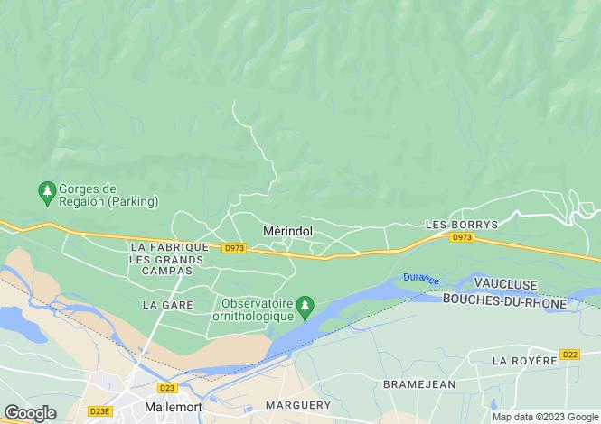 Map for Merindol,France