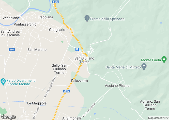 Map for San Giuliano Terme, Tuscany, Italy