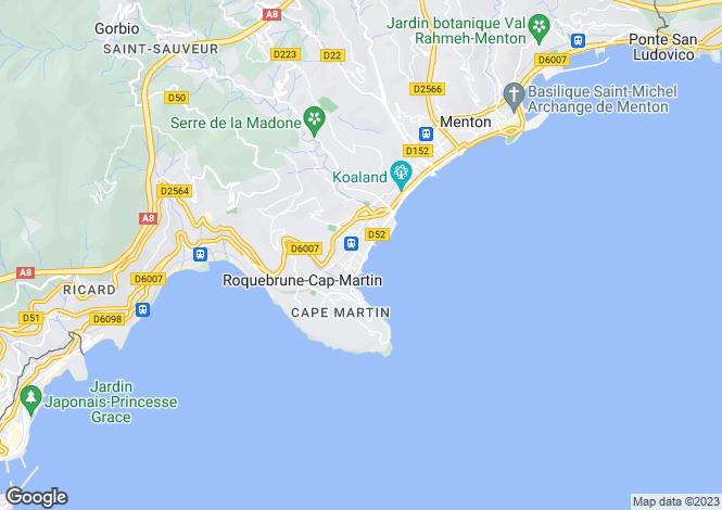 Map for Roquebrune-Cap-Martin, Alpes-Maritimes, Provence-Alps-Cote d`Azur