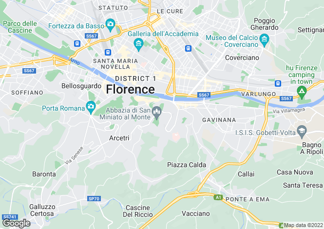 Map for Firenze, Florence, Tuscany