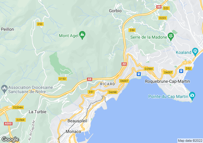 Map for Beausoleil, 06240, France