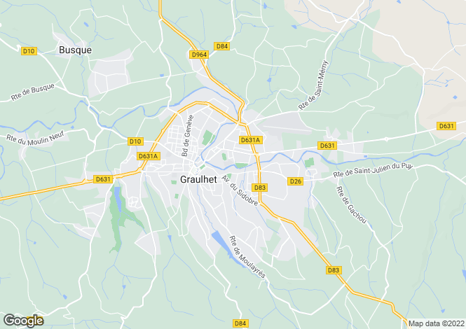 Map for graulhet, Tarn, France