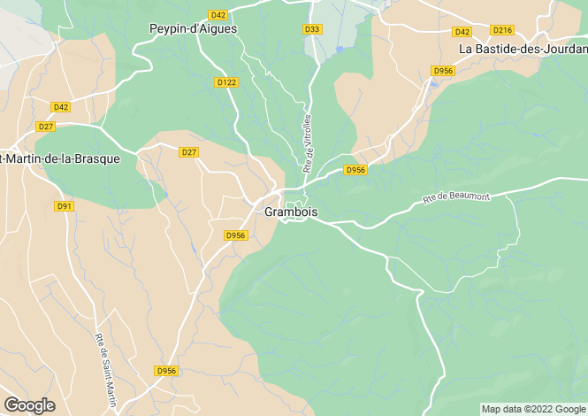 Map for Provence-Alps-Cote d`Azur, Vaucluse, Grambois