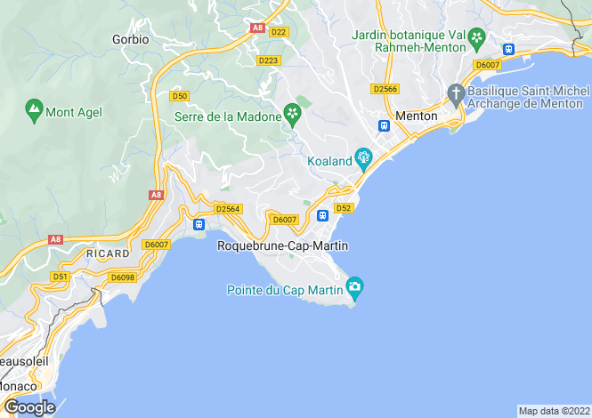 Map for Roquebrune-Cap-Martin, Alpes-Maritimes, France