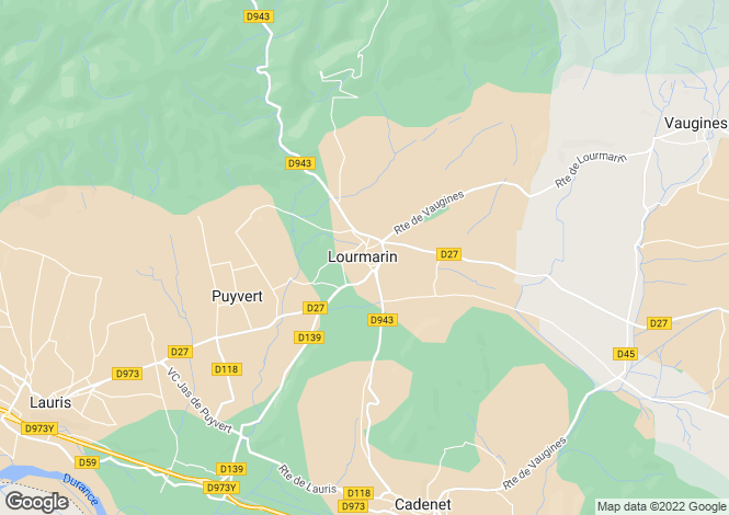 Map for France - Provence-Alps-Cote d`Azur, Vaucluse, Lourmarin