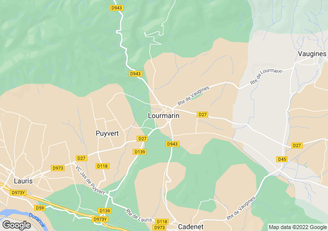 Map for Provence-Alps-Cote d`Azur, Vaucluse, Lourmarin